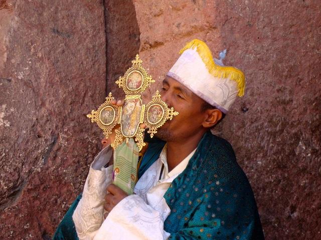 Priester, Lalibela, Äthiopien
