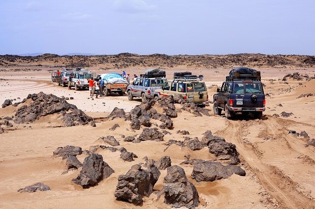 Driving in the Danakil